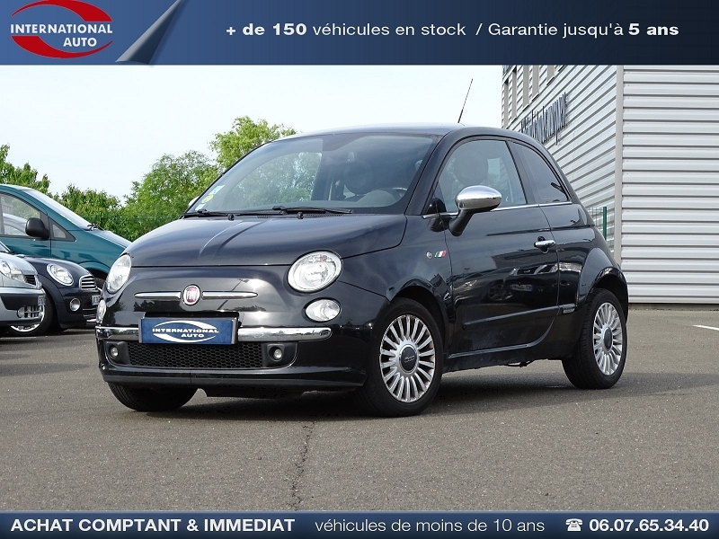 Photo 1 de l'offre de FIAT 500 1.2 8V 69CH LOUNGE à 6690€ chez International Auto Auneau