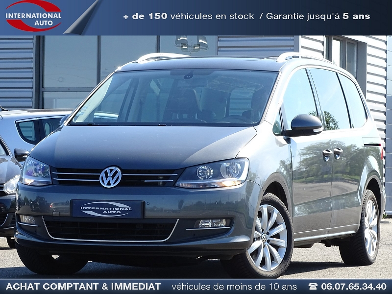 Volkswagen SHARAN 2.0 TDI 170CH BLUEMOTION FAP CARAT Diesel GRIS F Occasion à vendre